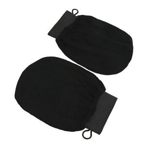 Black-Moroccan-Hammam-Scrub-Mitt-magic-Peeling-Glove-exfoliating-Bath-Gloves-UR