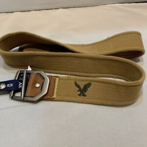 NWT-American-Eagle-Outfitters-Men-039-s-Tan-Cotton-Web-Belt-SZ-MED