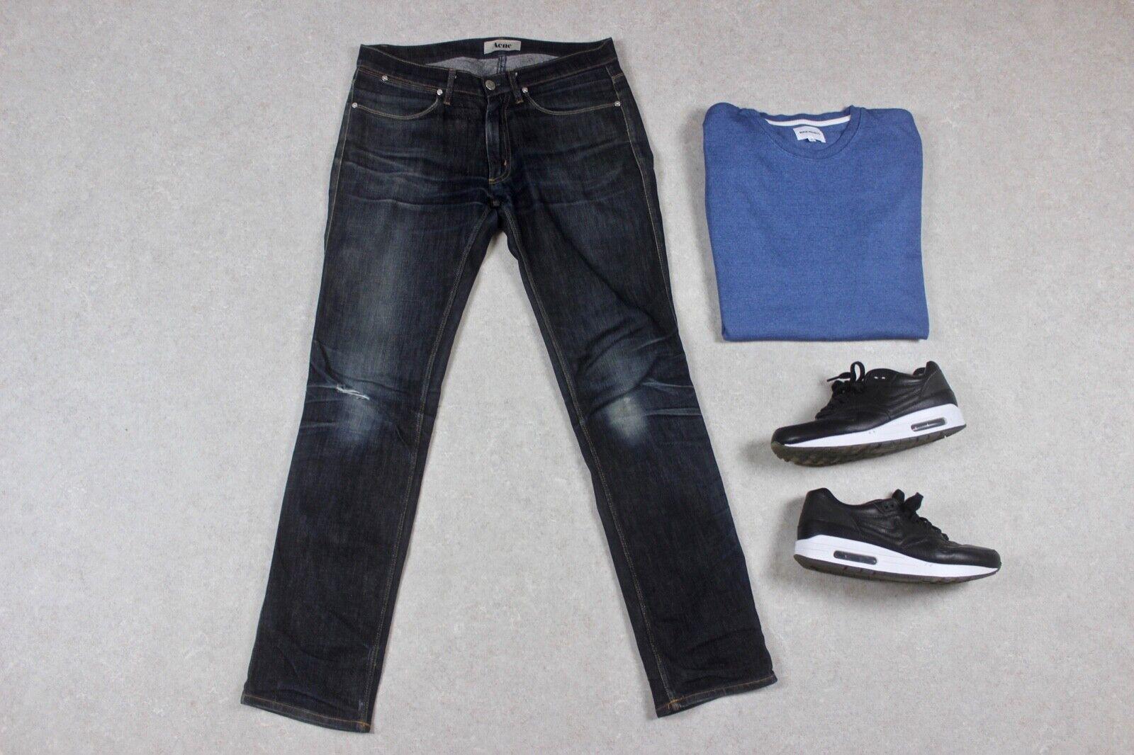 Acne Studios - Max Soft Raw Raw Raw Jeans - Blau - 31 32 fe4360