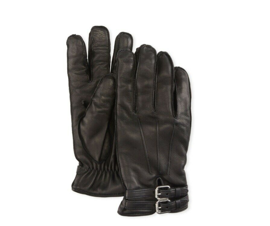Neiman Marcus Black Leather Gloves Made in Italy Sizes: XS, S, M 7.5, 8, 9