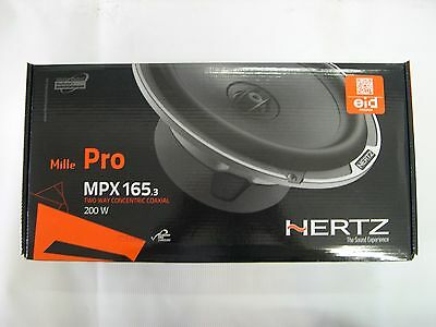 "HERTZ MPX 165.3 MILLE PRO 6.5"" 2-WAY CAR & HARLEY DAVIDSON SPEAKER SET/PAIR NEW"