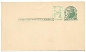 Thomas-Jefferson-1-Cent-3-x-5-1-2-034-Blank-Vintage-Correspondence-Post-Card