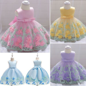Kids-Girl-Flower-Dress-Infant-Baby-Pageant-Wedding-Birthday-Party-Fancy-Dresses
