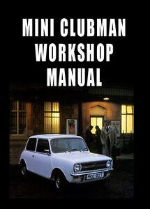 mini clubman workshop manual 1959 1976 ebay rh ebay com au Workshop Manuals PZ480 mini clubman r55 workshop manual