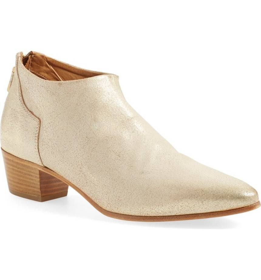 NEW Alberto Fermani  Gold Vittoria Ankle Booties, Donna Size 35  (5  US),  475