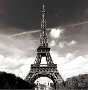 Image Is Loading France Paris Eiffel Tower Scenery Fabric Shower Curtain