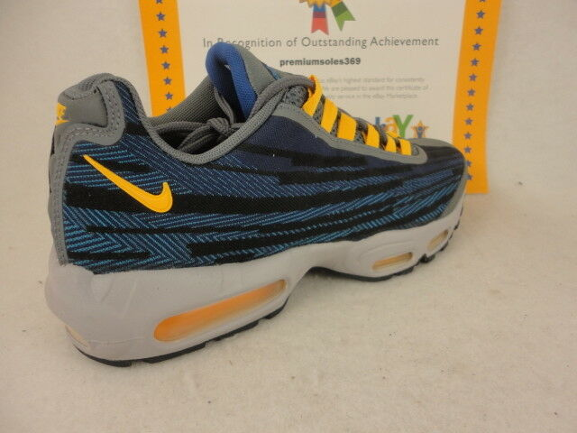 Nike Air Max 95 JCRD, Deep Royal bluee   Universtity gold, 644793 401, Size 8.5