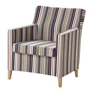 IKEA KARLSTAD Armchair Slipcover Beige Grey Red BNIB EBay