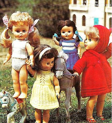 """V Doll 174 Dolls clothes knitting pattern for  7/"""" /& 10/"""" Baby doll."""