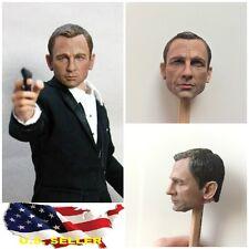 1/6 Daniel Craig head 3.0 James Bond agent 007 Skyfall Spectre hot toys phicen
