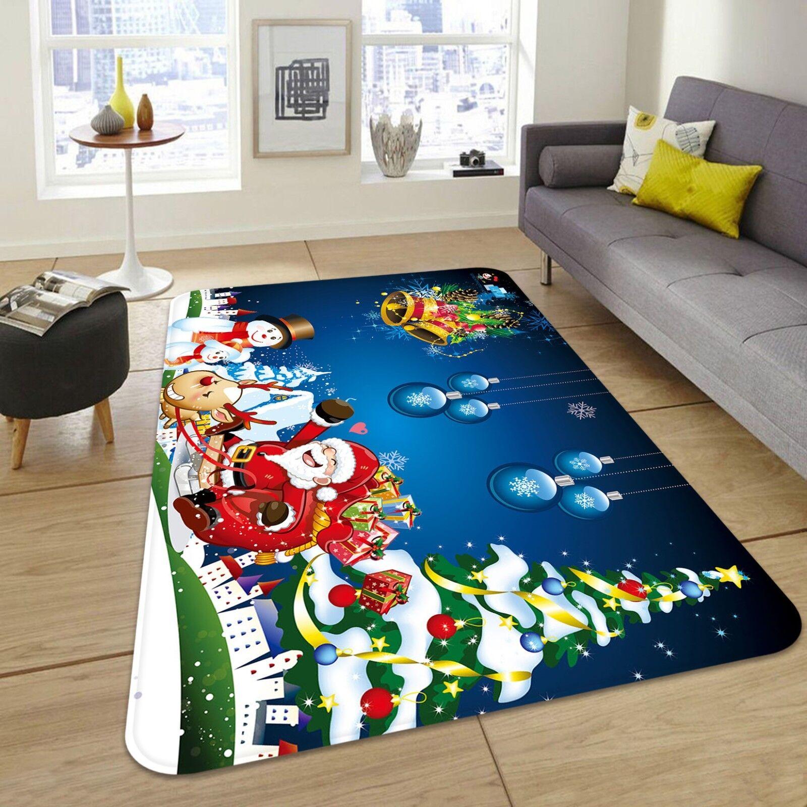 3d Natale Xmas 436 antiscivolo tappeto bagagliaio Qualità Tappeto Elegante