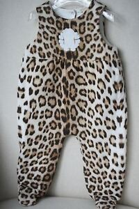 Image is loading ROBERTO-CAVALLI-BABY-LEOPARD-PADDED-SLEEPSUIT-BABYGROW-9- a7778f8b6
