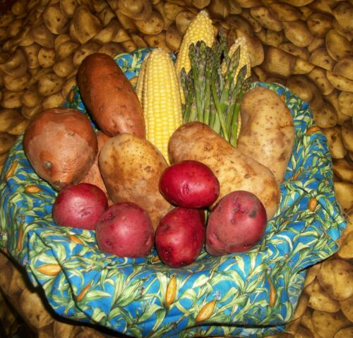 Details about  /Strawberries Carrots Peas Tomatoes in a Row Microwave Baked Potato Corn Bag