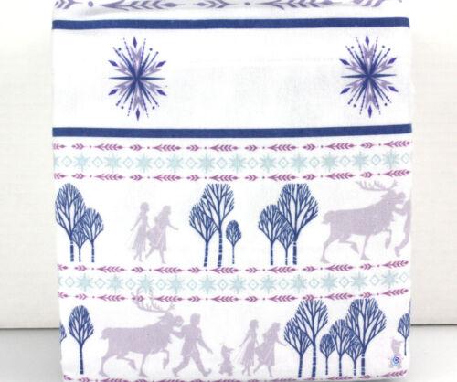 100/% Cotton White Purple Blue TWIN ❤️NEW❤️ Disney FROZEN II FLANNEL Sheet Set