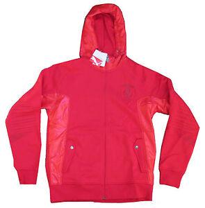 Ferrari Puma Rossa Corsa Red Zip Up Hoodie Sweatshirt Hoodie New Nwt Official Ebay