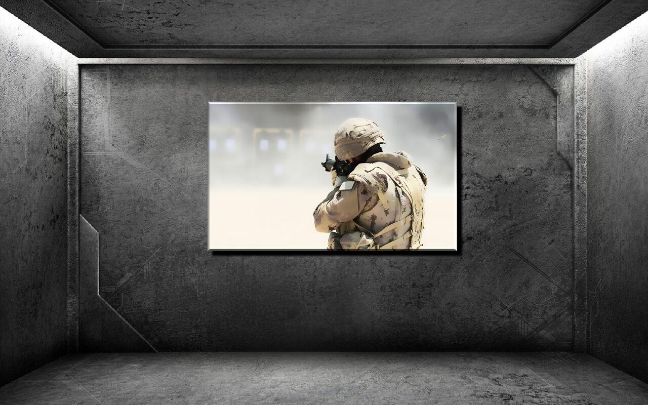 LEINWAND BILD XXL POP Kunst SOLDAT WAFFE AK 47 ARMEE BUNT S W ABSTRAKT BIS 150x90