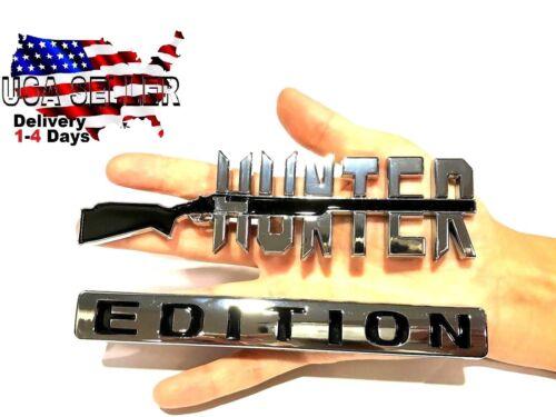 HUNTER EDITION Emblem Tailgate truck PONTIAC logo CAR decal SUV SIGN Door Badge