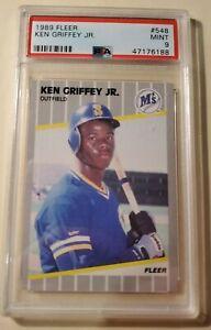 Ken-Griffey-Jr-1989-Fleer-548-RC-Rookie-Mariners-HOF-PSA-9-MINT