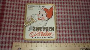 1950s-GERMAN-BEER-LABEL-FELSENKELLER-BRAUEREI-SEESEN-GERMANY-LAUTENTHAL