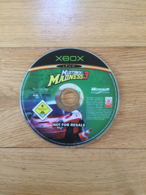 Midtown Madness 3 for Microsoft Xbox *Disc Only*