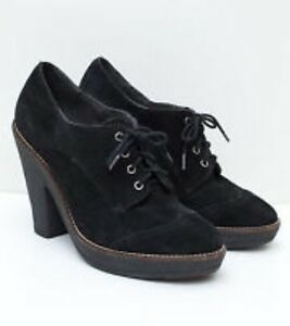 Sam-Edelman-Black-Suede-Willie-Lace-Up-Shoes-40-Uk-7-New-In-Box