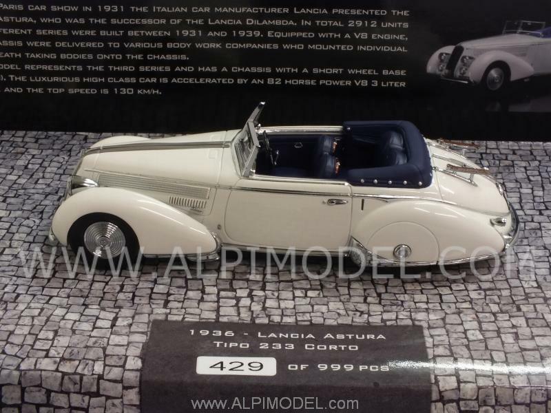 Lancia Astura Tipo 233 Corto 1936 blanc 1 43 MINICHAMPS 437125330