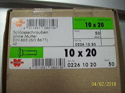 32x Schlossschrauben M8 x 35 mit Mutter 8x35 Flachrundschrauben DIN 603 Vierkant