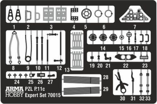#70016 1//72 ARMA HOBBY EXPERT SET POLISH AF MKGS PZL P.11 C FIGHTER