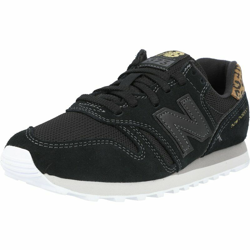 New Balance 373 Black/Gold Suede Adult Trainers Shoes