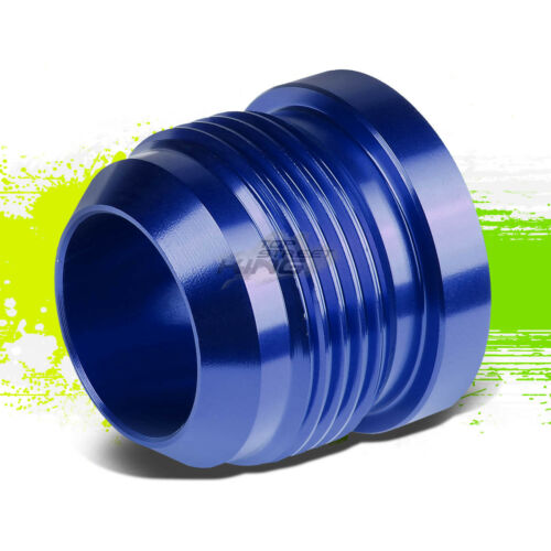 16AN AN16 AN-16 MALE THREADED WELD ON FLARED BLUE BUNG ALUMINUM ANODIZED FITTING