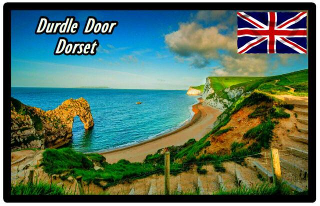 Durdle Porte, Dorset - Souvenir Nouveauté Réfrigérateur Aimant, Mire /Drapeaux/