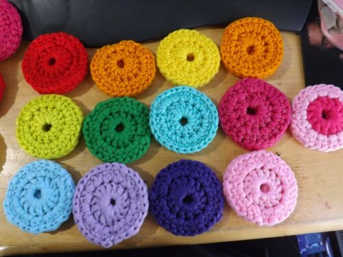 NEW homemade colorful kitchen round SCRUB PADS Scouring pads