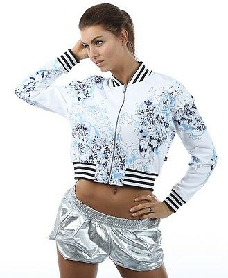 ADIDAS ORIGINALS SUPERGIRL LONDON WOMENS CROP TRACK JACKET WHITE UK SIZE 6-14