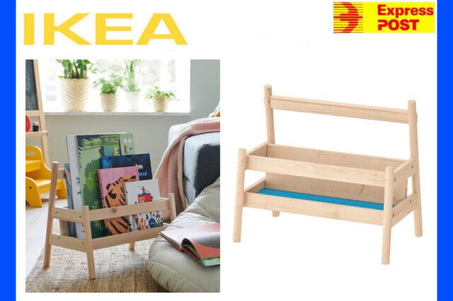 IKEA FLISAT Bookshelf Book Rack Display Shelf Children Storage Wooden Solid Pine