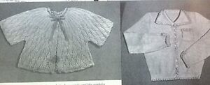 Vintage-Knitting-Pattern-2x-Ladies-Bed-Jacket-Bedjacket