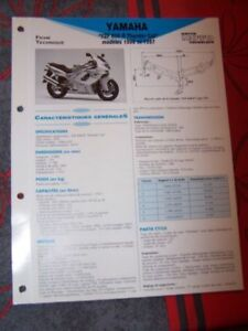 IndéPendant 1n - Fiche Technique Moto Rmt Etai Yamaha Yzf600r Yzf 600 R Thunder Cat 96 A 97