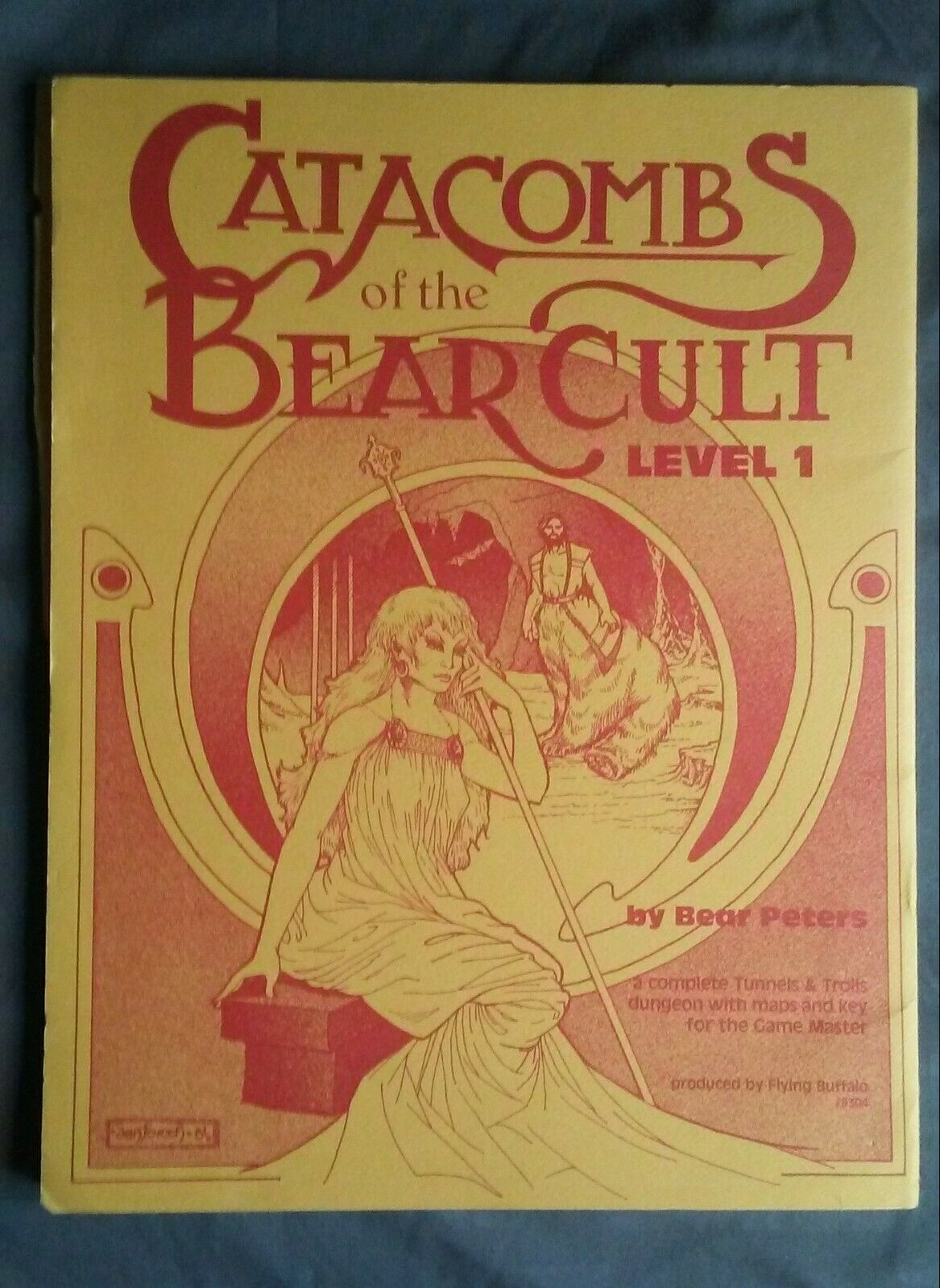 CATACOMBS OF THE BEAR CULT LEVEL 1 Tunnels & Trolls I Module 8304 First Printing