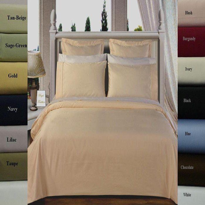 Opulent 300tc Cotton Solid Duvet Startseite Set