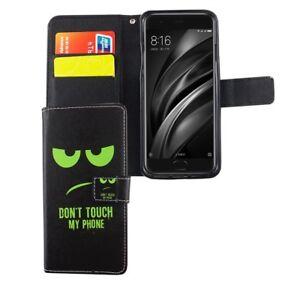 Etui-Coque-Pour-Telephone-portable-Xiaomi-Mi-6-Don-039-t-touch-vert-sac-housse