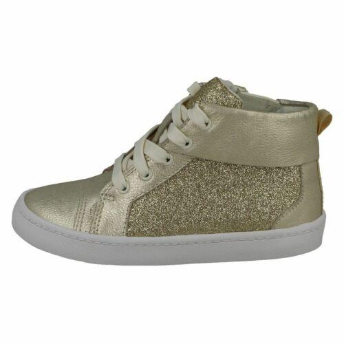Girks Clarks City Oasis Hi Gold Leather Hi-Top Boots G Fitting