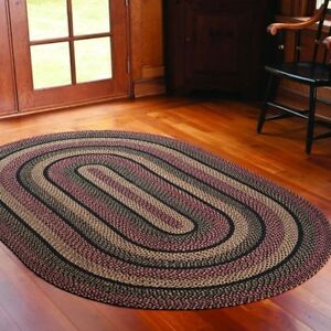 Image Is Loading Primitive Country Blackberry Braided Jute Area Rugs Plum