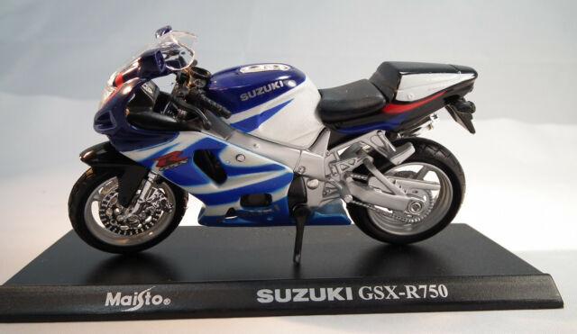 Suzuki Gsx R 750 R750 Blau Weiss 1//18 Maisto Modellmotorrad Modell Motorrad