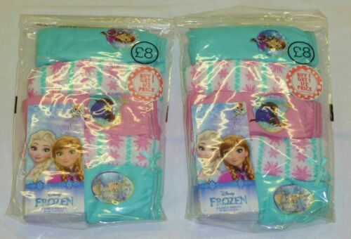 Pack de 10 Filles Ex-bhs Assorted Frozen Culotte//Slips Âges 5-6 6-7 /& 7-8