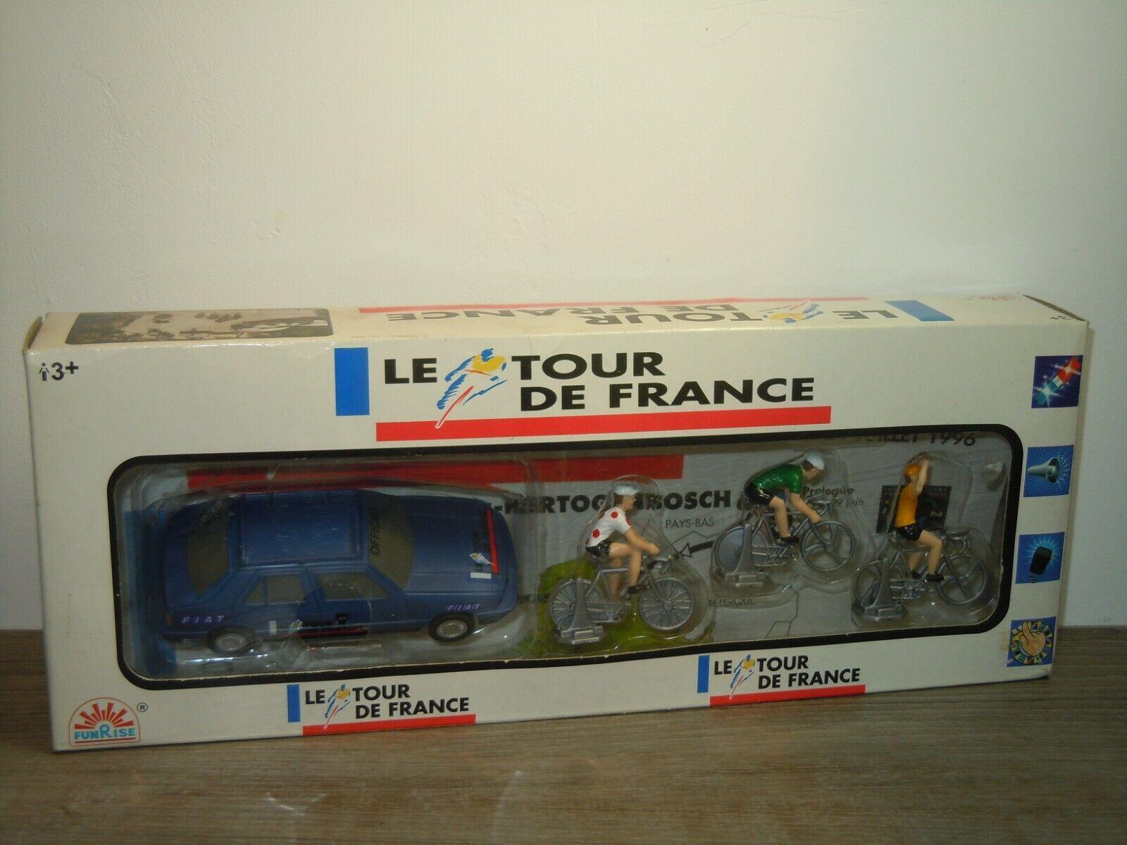 mas barato Le Le Le Tour de France 1996 Set - Fiat Croma & 3 Bicycler - Funrise - in Box 39103  disfrutando de sus compras