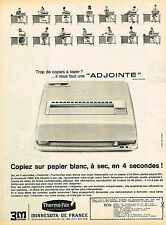 PUBLICITE ADVERTISING 124  1962  MINNESOTA 3M    le THERMO-FAX  copieur ADJOINTE