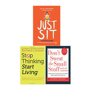 Just-Sit-HD-Stop-Thinking-Start-Living-Don-039-t-Sweat-3-Books-Collections-Set-NEW