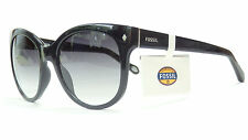 FOSSIL 3018/S OD28 BLACK SILVER FOSSIL SUNNIES SUNGLASSES SHADES CAT EYE FOSSIL