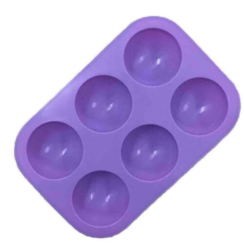 3D Half Ball 6-Cells Silicone Chocolate Mold Sphere Cupcake Cake Baking Mold New