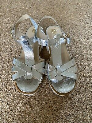 RIVER ISLAND FAUX LEATHER SILVER