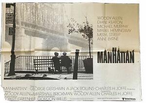 ORIGINAL-UK-QUAD-POSTER-Woody-Allen-039-s-Manhattan-1979-29-034-x-40-034-6550
